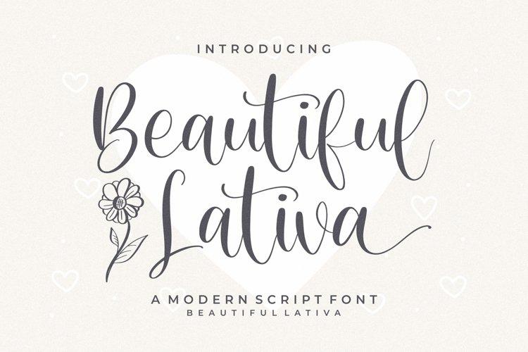 Beautiful - Lativa Modern Script Font example image 1