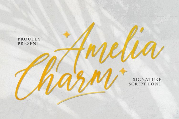 Amelia Charm Font example image 1