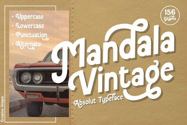 Mandala Vintage Modern/Vintage Font example image 1