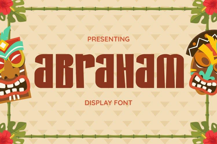 Abraham Font example image 1