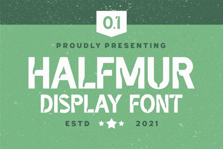 Halfmur Font example image 1