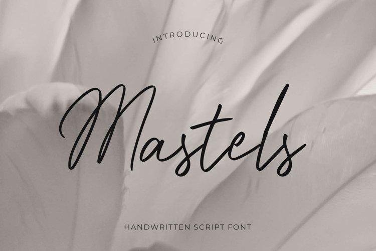 Mastels - Handwritten Script example image 1