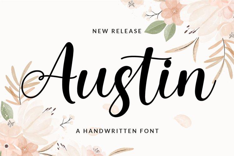 Austin - a Handwritten Script Font