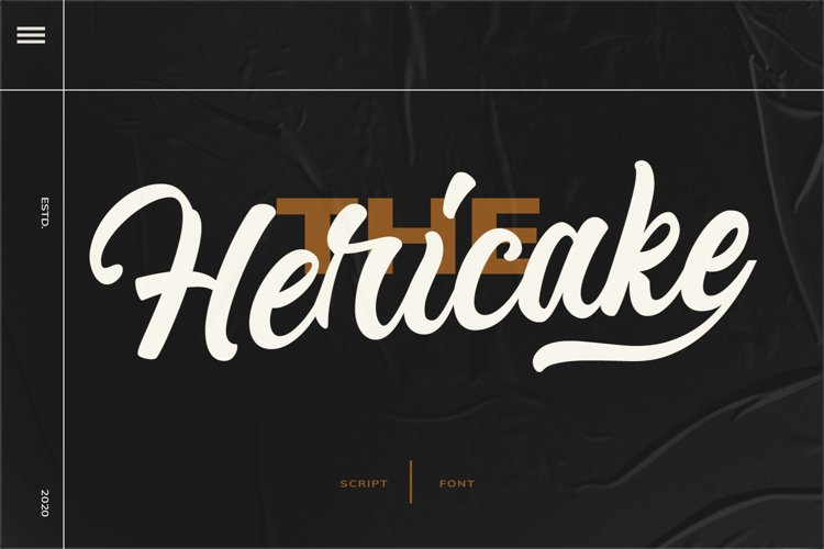 Hericake Script Bold example image 1