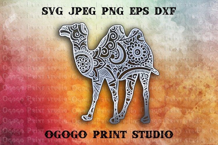3D Layered Camel Mandala Svg, Zentangle Svg, Cricut cut file