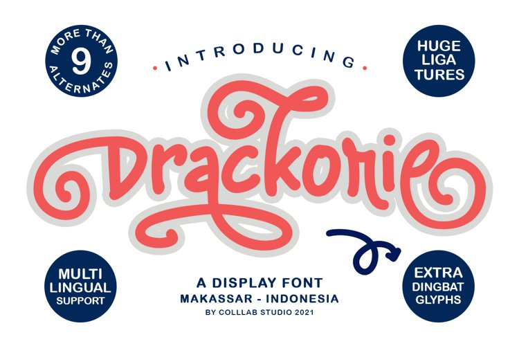 Drackorie - A Stunning Display Font example image 1