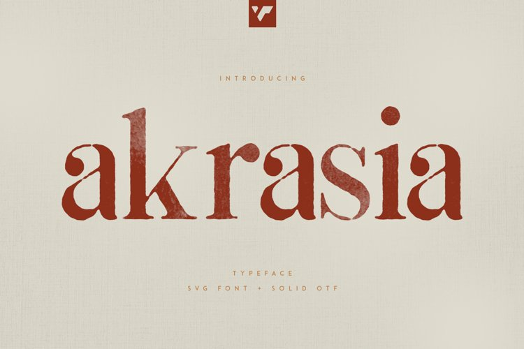 Akrasia Typeface - SVG Solid fonts