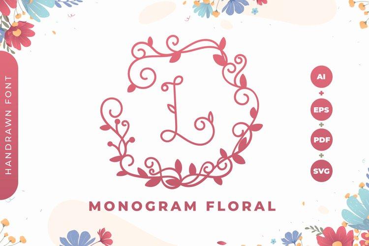 Monogram Floral Font example image 1