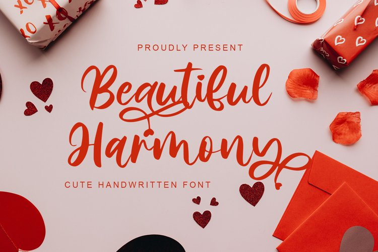 Beautiful Harmony - Cute Handwritten Font example image 1
