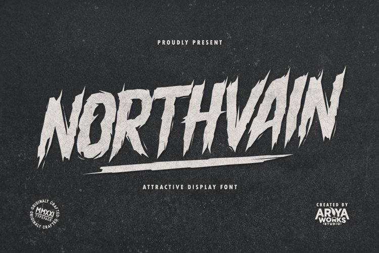 Northvain | Attractive Display Font example image 1