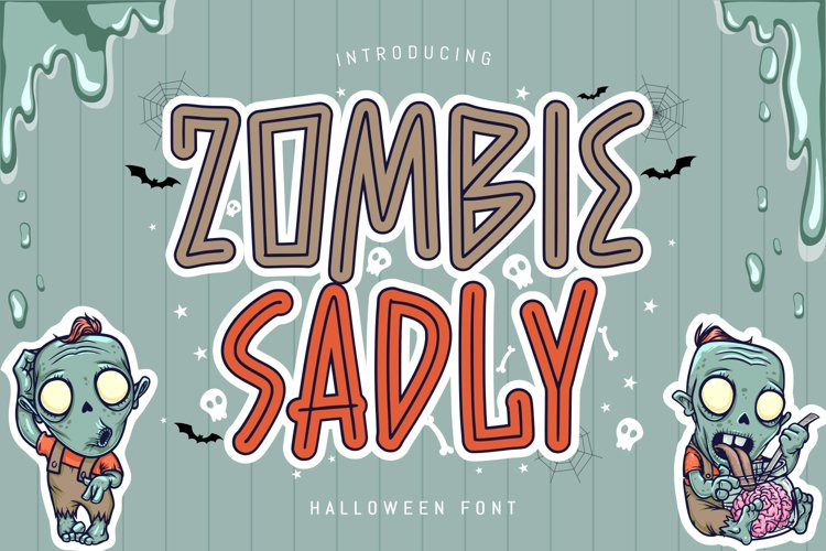 Zombie Sadly - Halloween Font example image 1