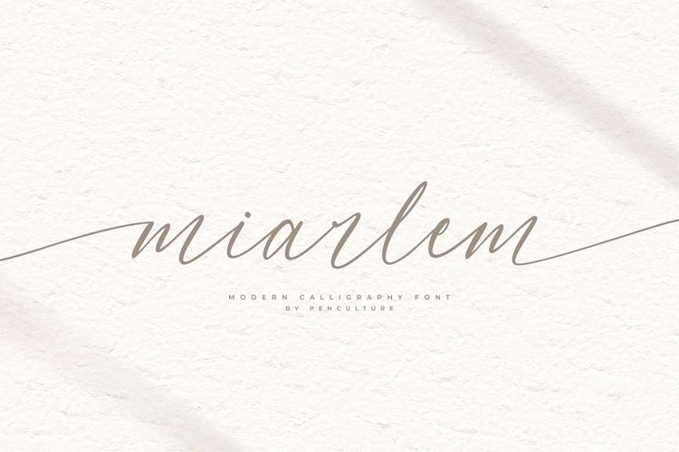 Miarlem - A Modern Calligraphy Font example image 1