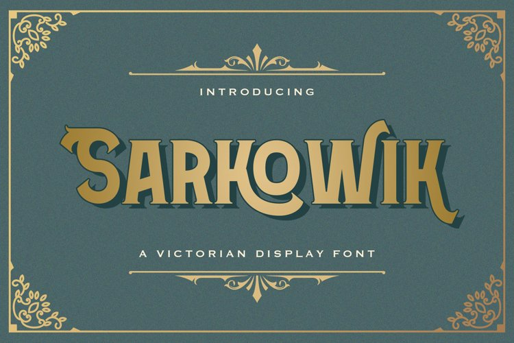 Sarkowik - Victorian Style Font example image 1