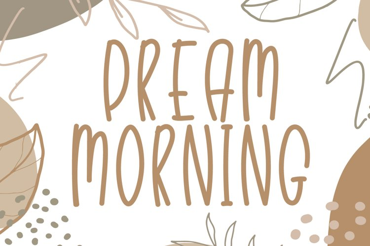 Dream Morning - Cute Display Font example image 1