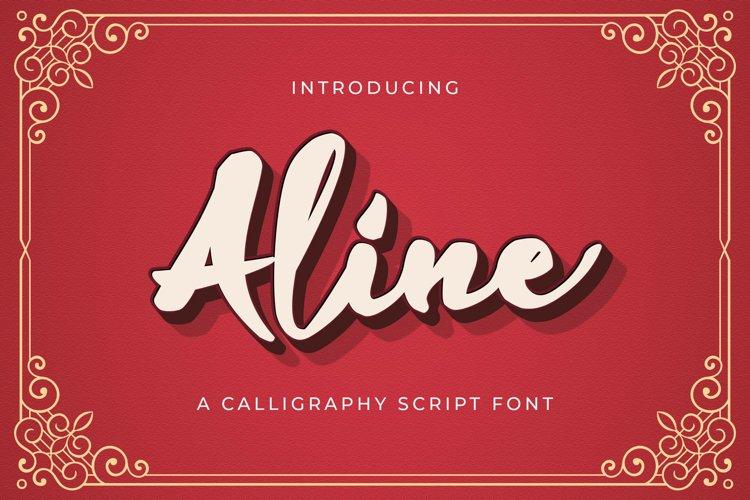 Aline - Handwritten Font example image 1
