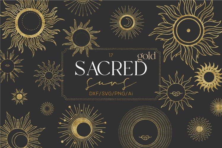 Sacred gold suns
