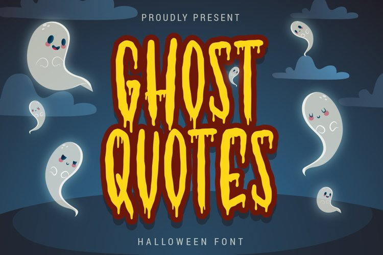 Ghost Quotes - Halloween Font example image 1