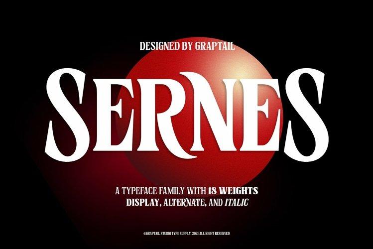 Sernes - Display Font