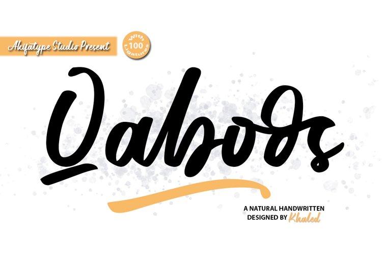 Qaboos - Handwritten example image 1