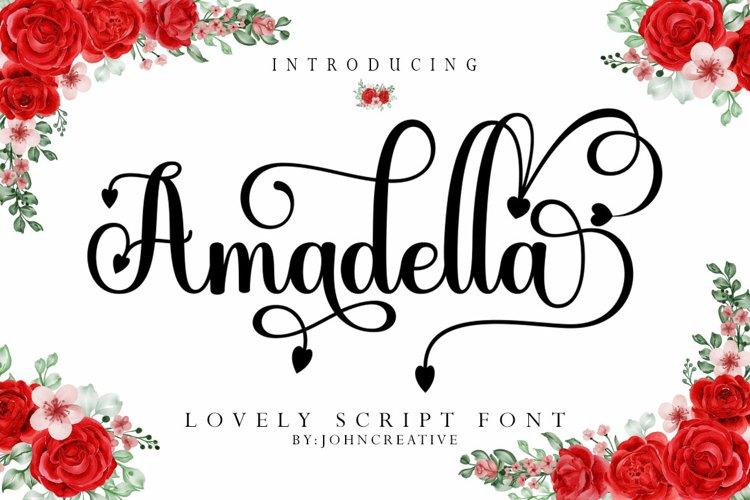 Amadella Script example image 1