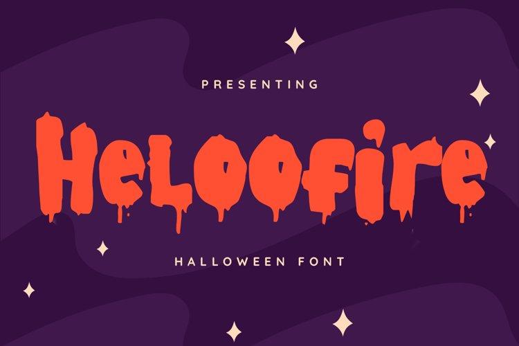 Heloofire Font example image 1