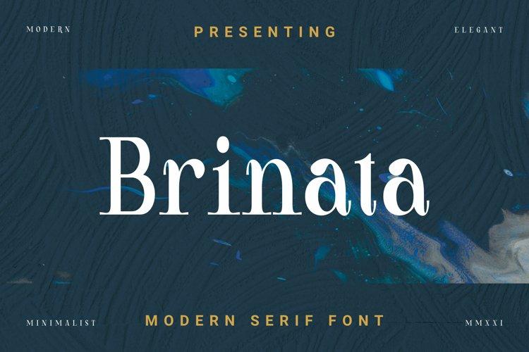 Brinata Font example image 1