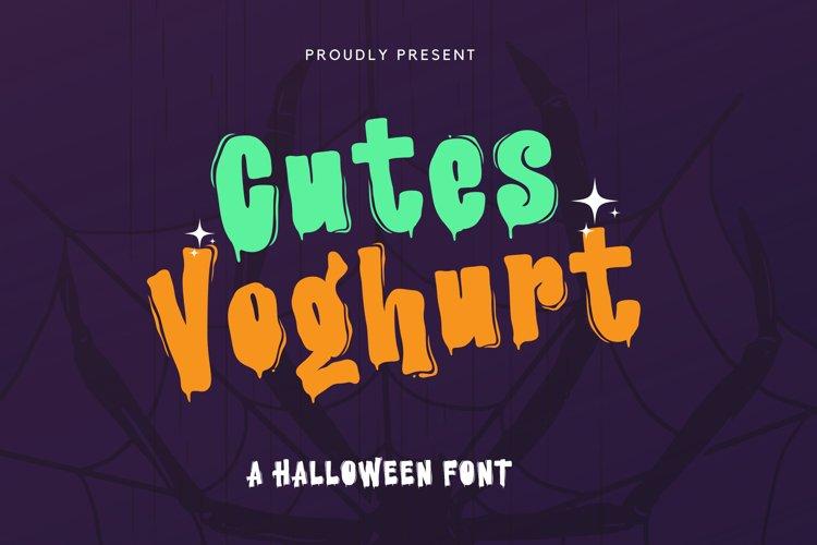 CutesVoghurt Font example image 1