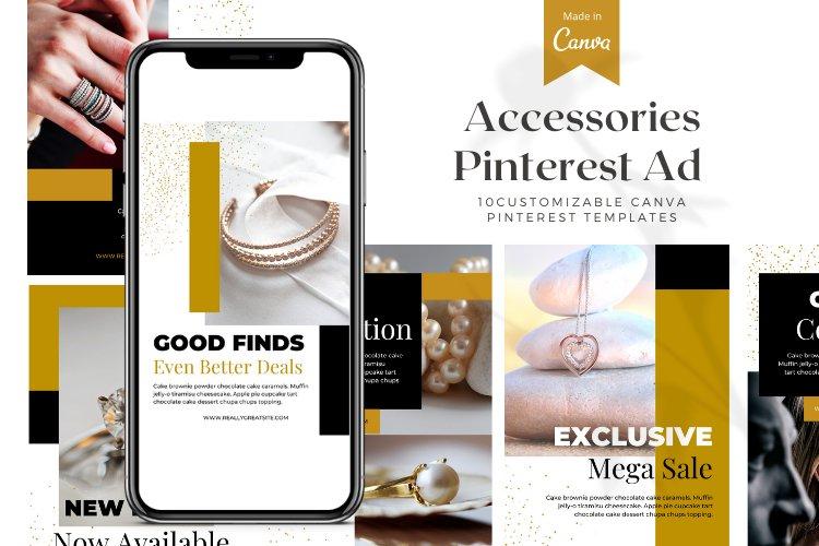 10 Customizable Pinterest Ads - Canva Templates example