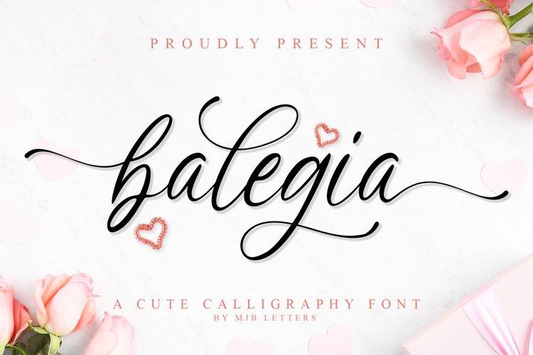 Balegia - a Cute Calligraphy