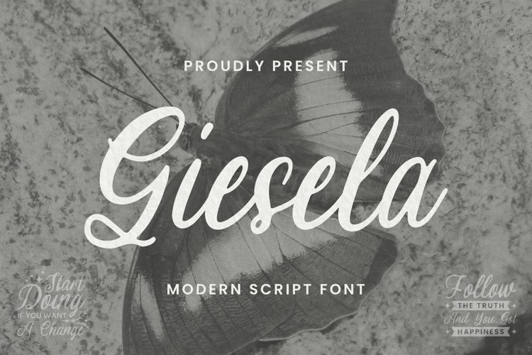 Giesela Font example image 1