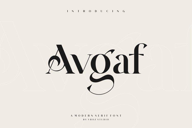 AVGAF - A Modern Serif Font example image 1