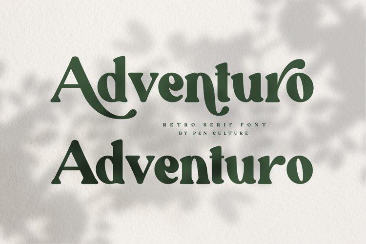 Adventuro - Retro Serif Font example image 1