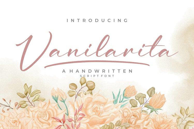 Vanilarita - Handwritten Script Font example image 1