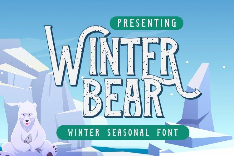 Winter Bear Font example image 1