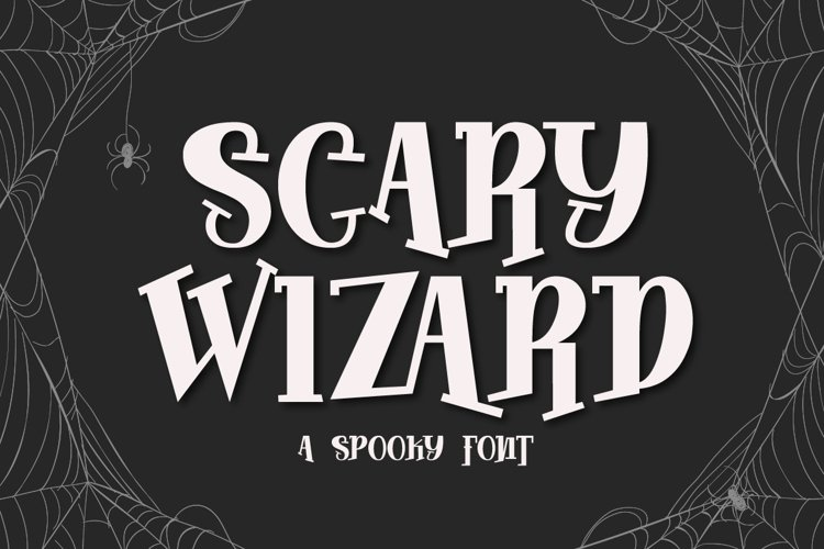 Scary Wizard - a Spooky Font - Free Font Of The Week Font
