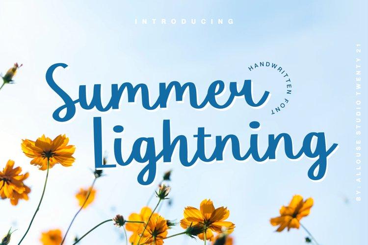 Web Font - Summer Lightning example image 1