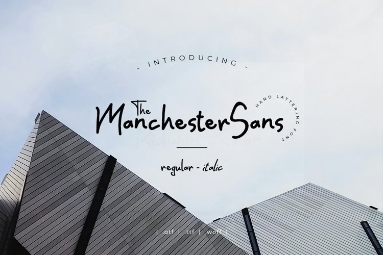 Manchester Sans example image 1