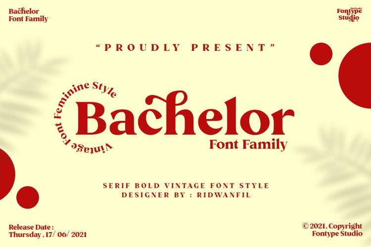 Bachelor Font Family - Vintage Bold Serif Font Feminine Styl example image 1