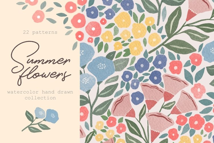 Summer Flowers - Patterns collection
