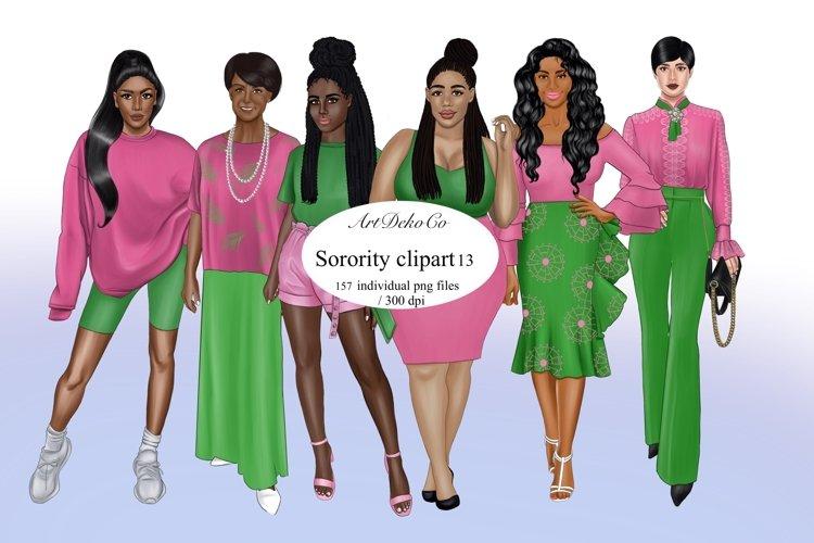 Sorority clipart, Sisterhood clipart, Afro girls clipart