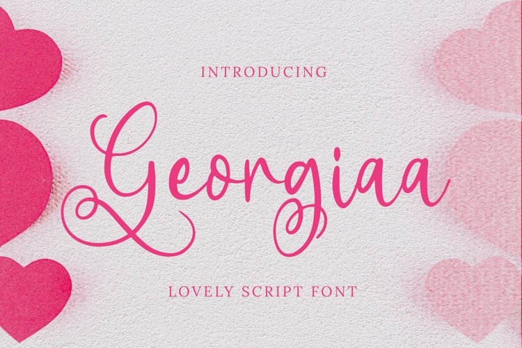Georgiaa Font example image 1