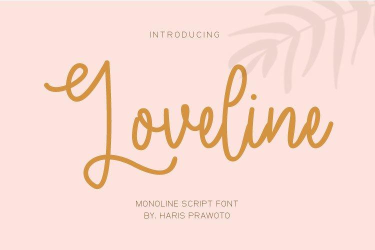 Loveline - wedding font