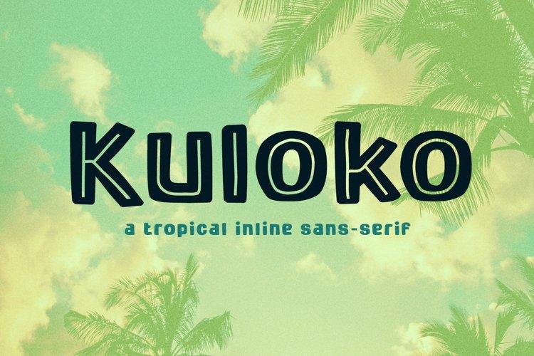 Kuloko Tropical Inline Sans Serif example image 1