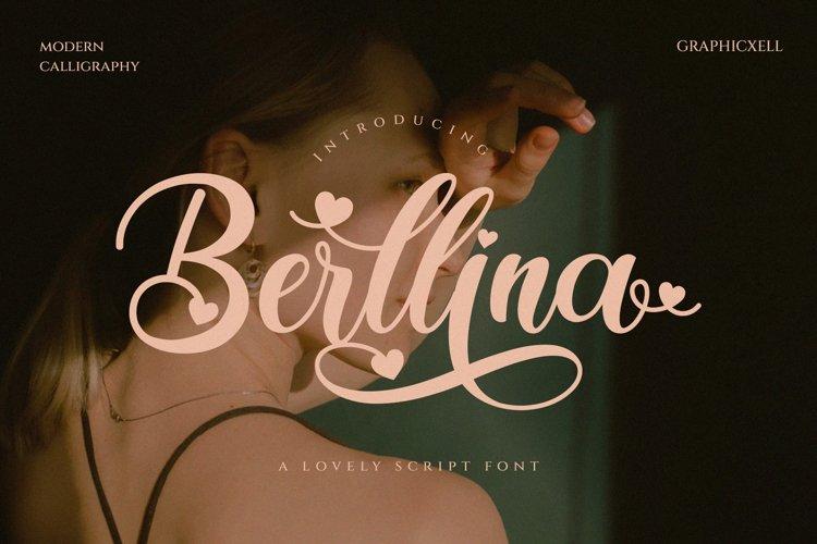 Berllina - Elegant Script Font example image 1