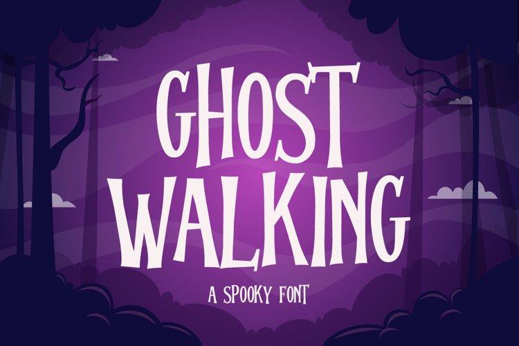 Ghost Walking - a Spooky Font