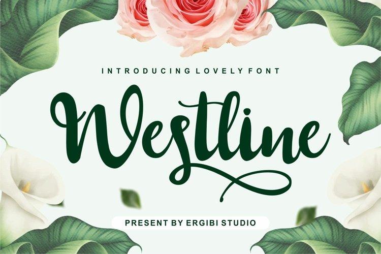 Westline - Lovely Font example image 1