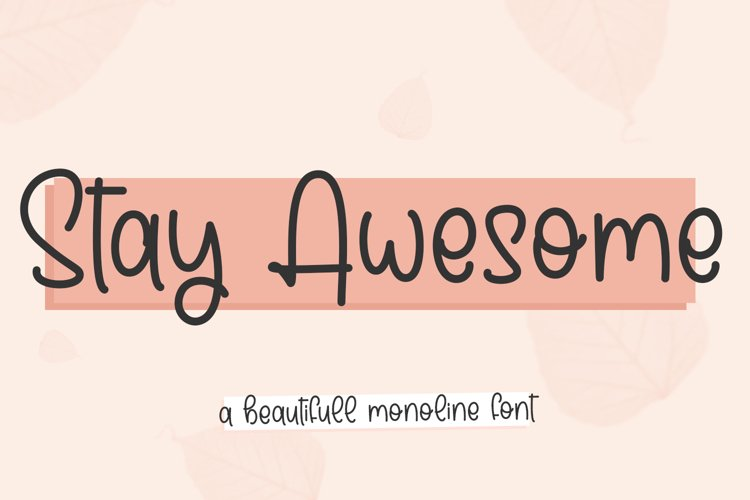 stay awesome example image 1