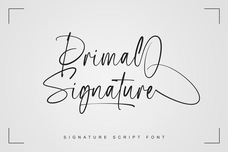 Primal Signature example image 1
