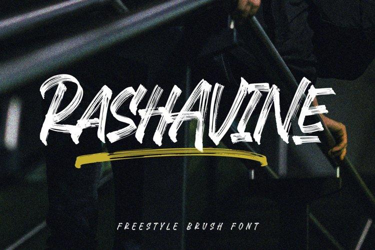 Rashavine - Street Font example image 1