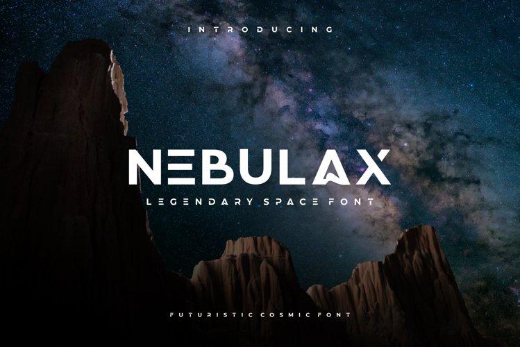 NEBULAX - futuristic modern font example image 1